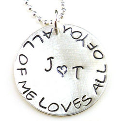 All of Me Loves All of You Personalized Hand-Stamped Necklace