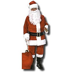 Flannel Adult Santa Costume