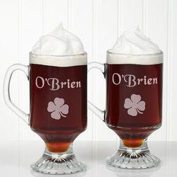 Personalized Irish Coffee Mug Set