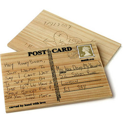 Personalized Wooden Post Card