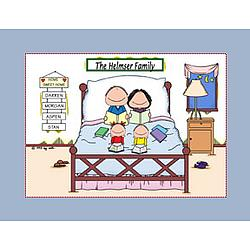 Personalized Home Sweet Home Family Cartoon