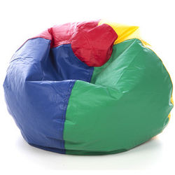 Standard Multi-Colored Vinyl Bean Bag Chair
