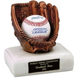 Personalized Baseball Glove and Base Ball Holder