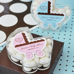 Baby Carriage Clear Favor Boxes