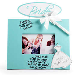 Bride's Wedding Advice Picture Frame