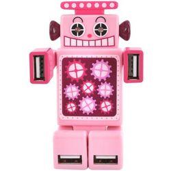 Robot USB HUB with 4 Ports and LED Eyes