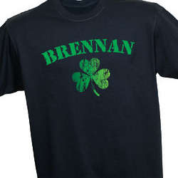 Personalized Irish Shamrock T-Shirt