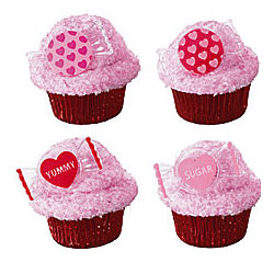 Sweet Talk Heart Cupcake Rings