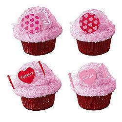 Sweet Talk Heart Cupcake Rings