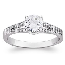 Majestic Sterling Silver Solitaire Cubic Zirconia Ring