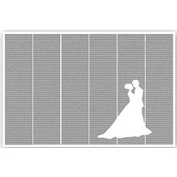 Pride and Prejudice Novel Silhouette Framed Poster