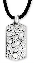 Illusion Men's Sterling Silver Pendant Necklace