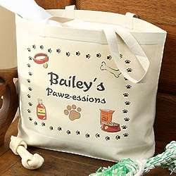 Personalized Dog Canvas Tote Bag