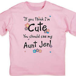 Girl's If You Think I'm Cute Flower T-Shirt