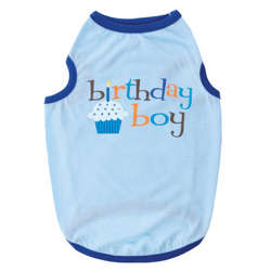 Dog's Blue Birthday Cupcake Shirt