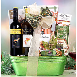 Yellow Tail Shiraz and Chardonnay Gift Basket