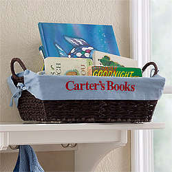 Blue Personalized Boy's Storage Basket