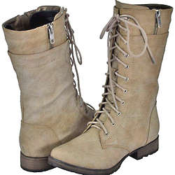 Combat Inspired Women Riding Boots