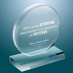 Crystal Personalized Exceptional Award