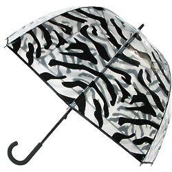 Zebra Trim Bubble Umbrella