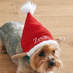 Personalized Doggy Elf Hat