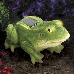 Motion Activated Solar Frog