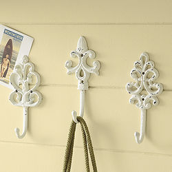 Distressed Cast Iron Coat Hooks