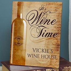 Wine Time Personalized Sign
