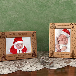 Personalized Make Your Own Christmas Picture Frame for Baby