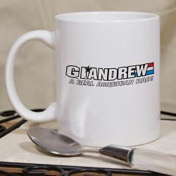G.I. American Hero Personalized Father's Day Ceramic Coffee Mug