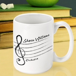 Personalized Music Mug