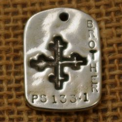 """Brother"" GodTag Sympathy Pendant"