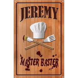Personalized Metal Premium Master Baster Sign