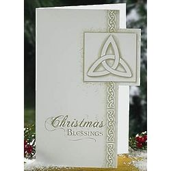Trinity Knot Christmas Blessings Cards