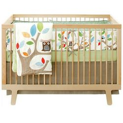 Tree Top Owl Crib Bedding Set
