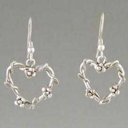 Mini Floral Heart Earrings