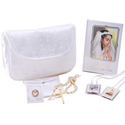 First Holy Communion Purse Set with Rosary and Accessories