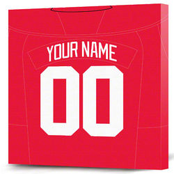 Personalized Detroit Red Wings Jersey Canvas