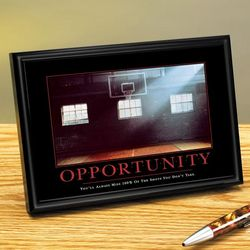 Opportunity Basketball Framed Desktop Print