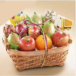Organic Fruit Assortment Gift Basket