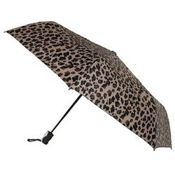 Mini Triple-fold Cheetah Print Umbrella