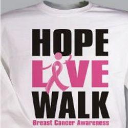 Personalized Breast Cancer Walk Sweatshirt