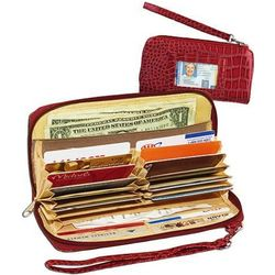 Deluxe Organizer Wallet in Red