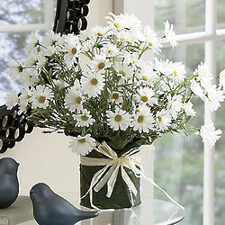 Artificial White Daisy Bouquet
