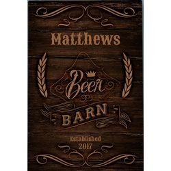 Beer Barn Personalized Sign