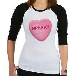 Sparky Candy Heart Jr. Raglan Tee