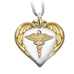 Nurses Serenity Prayer Diamond Pendant