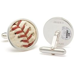 Los Angeles Angels Game Used Baseball Stitches Cufflinks