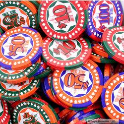 Milk Chocolate Casino Chips