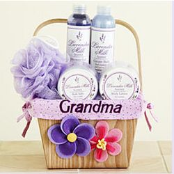 Personalized Luxurious Lavender Spa Basket